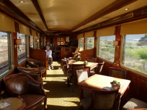 The lounge car on the Blue Train